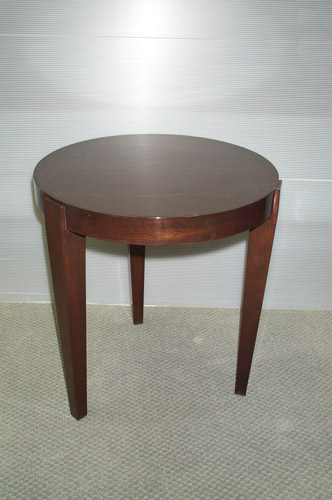 113 U2013 Custom Mahogany Round Side Table