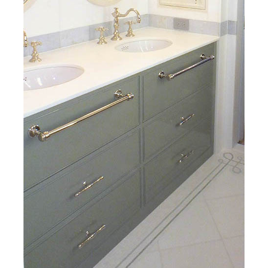 108 U2013 Custom Built In Double Sink Vanity ...