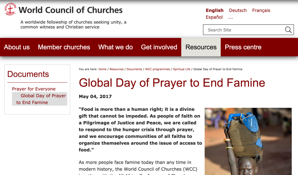 Recursos  proporcionados por el Consejo Mundial de Iglesias.