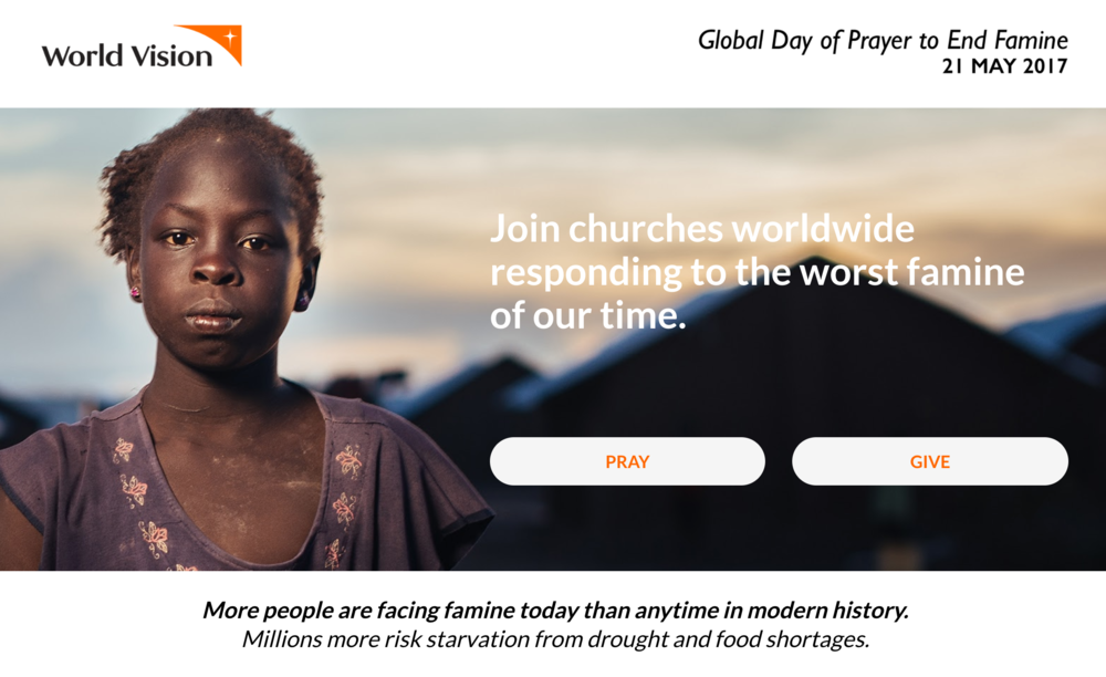 Dokumente  zum Mitbeten in Kirche oder Familie, bereitgestellt von World Vision International.