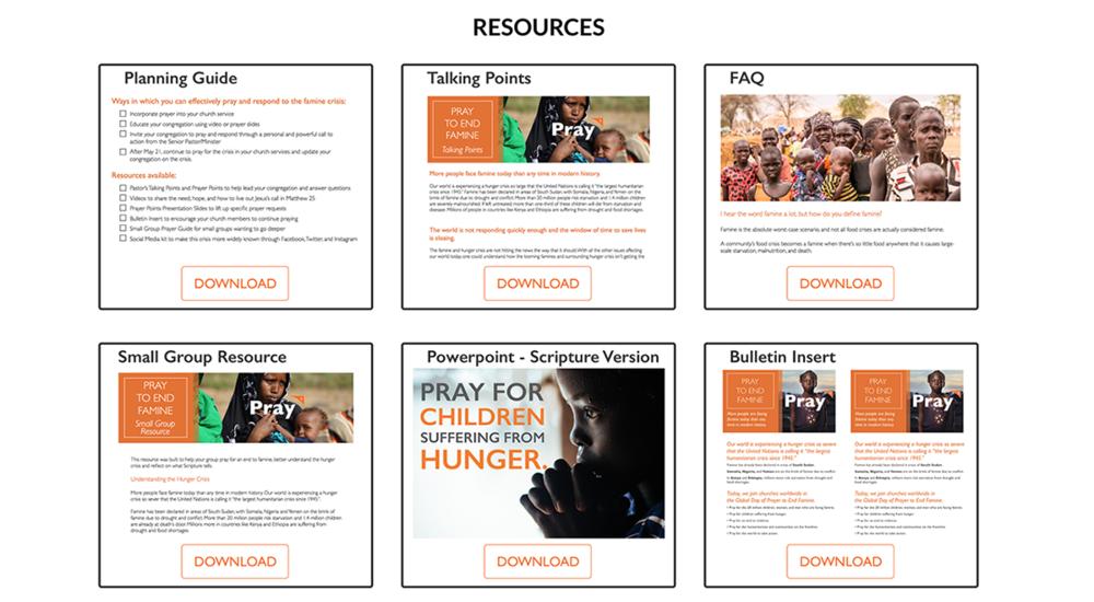 Ressources fournies par l'organisation World Vision et destinées à convaincre votre Église ou vos proches.