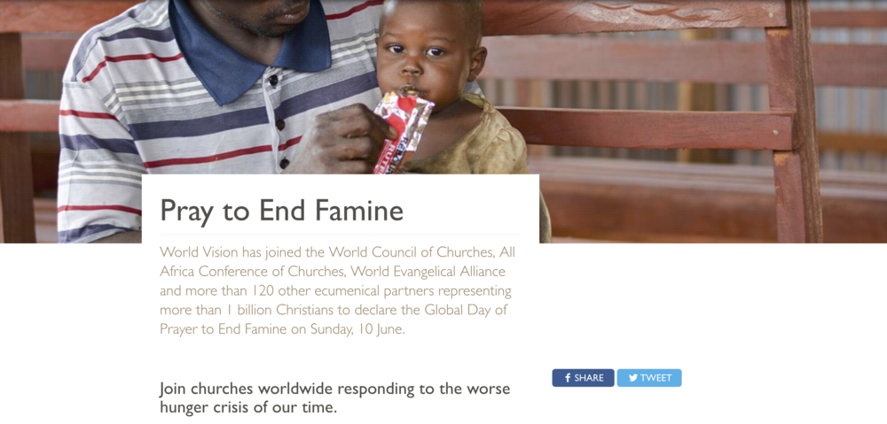 Resources  to lead your church or family provided by World Vision International.