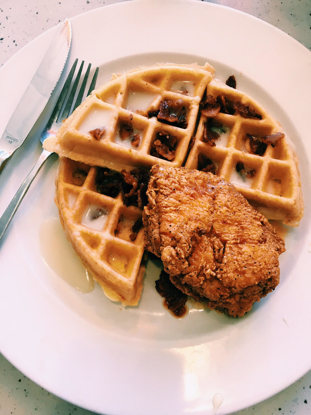 Wild Chicken and Waffle photo c/o Claire D. (my brunch partner in crime)