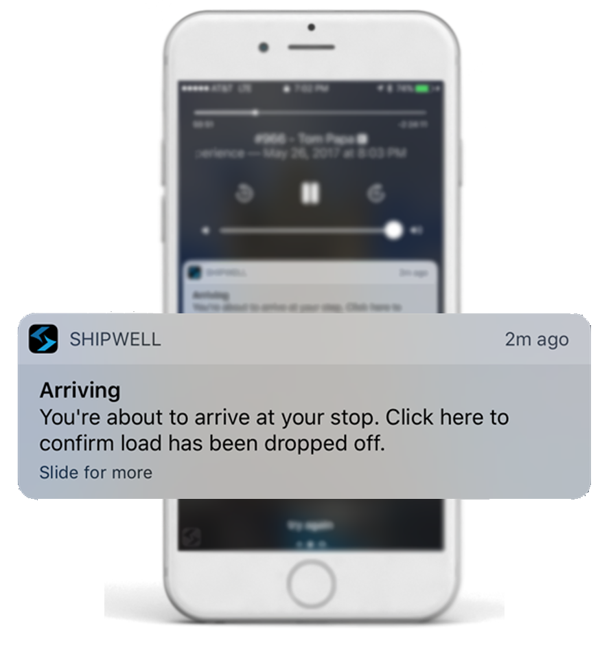 Carrier Mobile Notifications