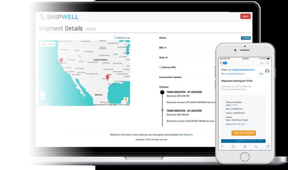 Shipwell Shipment Tracking Web and Mobile