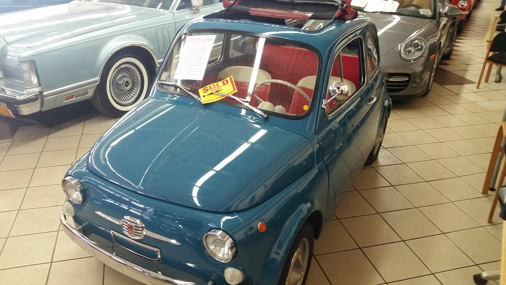 1968 Fiat 500F  found and imported from Europe and sold in 2014