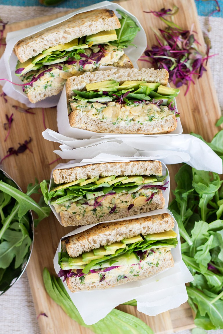 Green Chickpea Salad And Avocado Panini by Dear Kitchen (sub bread for a GF version!)