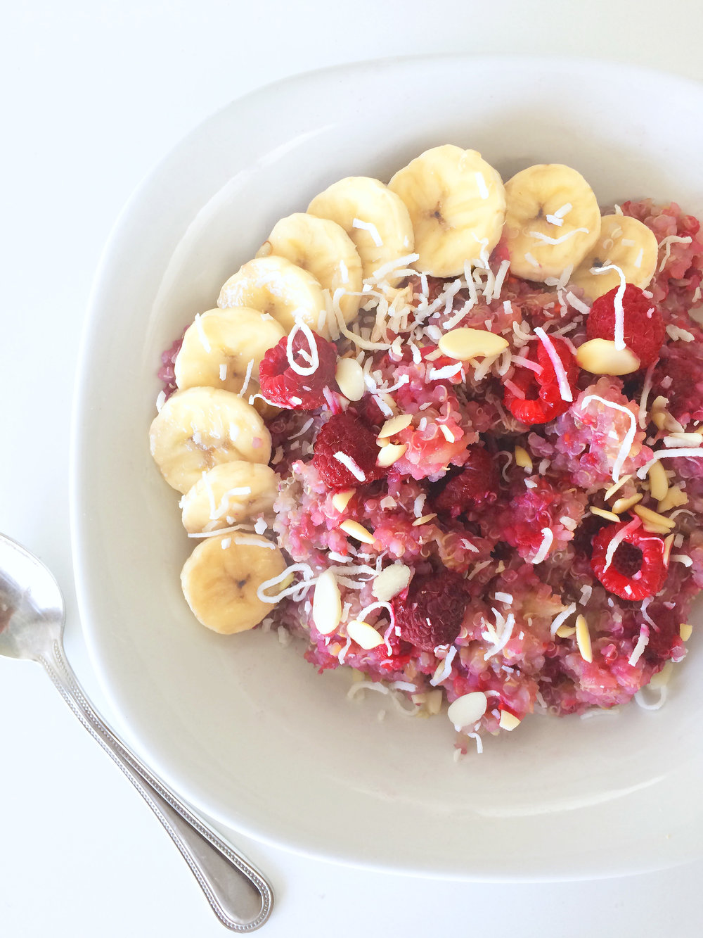 4 Ingredient Quinoa Breakfast Bowl by Kelly Trach