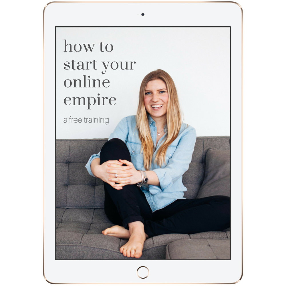 Welcome to this FREE Video Course - How to Start Your Online Empire: a free 6-day video training by Kelly Trach. It's jam-packed and juicy.