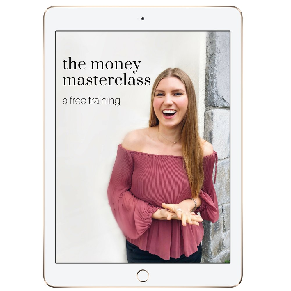 Welcome to this FREE Masterclass - The Money Masterclass: a free video training by Kelly Trach. It's jam-packed and juicy.