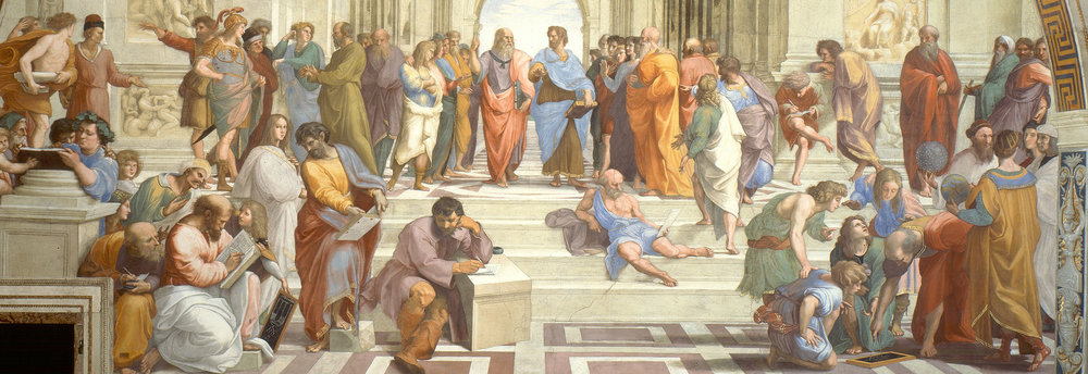 Raphael (1509-11) School of Athens (detail) Fresco. Apostolic Palace, Vatican City