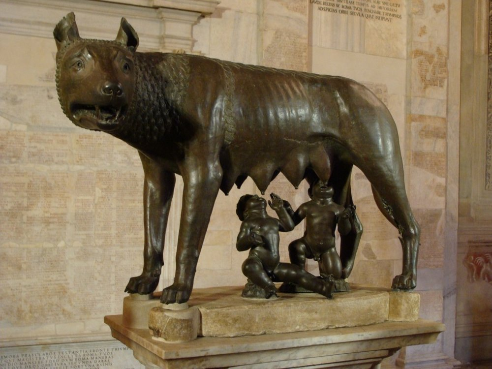 The Capitoline She-Wolf:  Romulus and Remus myth