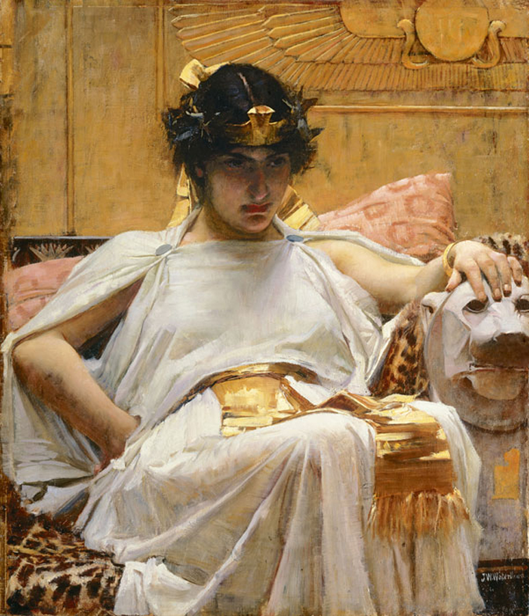 John William Waterhouse (1888) Cleopatra. Oil on canvas. Private collection