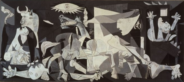 Pablo Picasso (1937) Guernica. Oil on canvas. Museo Reina Sofia, Madrid.