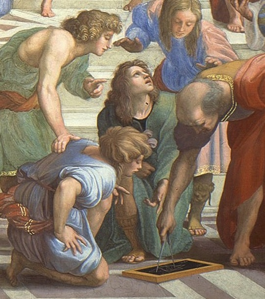 Raphael (1509–1511) Euclid Detail from The School of Athens. Fresco. Apostolic Palace, Vatican City