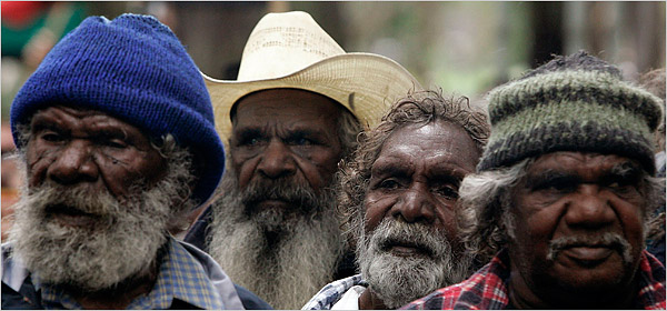 Australian aboriginal elders.