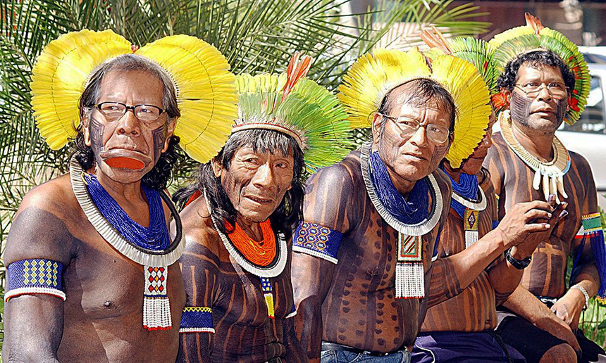 Kayapo Chiefs from Amazonia. Photo source: Valter Campanato, Agência Brasil