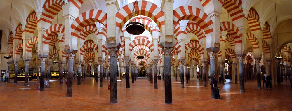 Mezquita interior: Cordoba, Spain