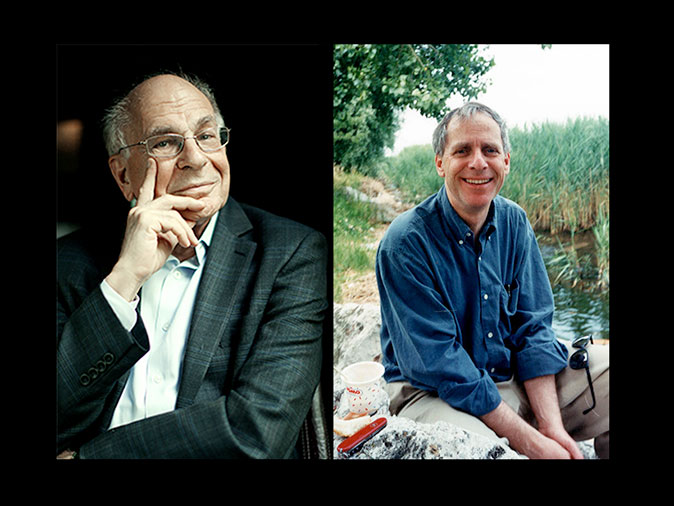 "Daniel Kahneman (left) and Amos Tversky (right). Kahneman and Tvarsky are famous for their longstanding and highly productive collaboration on heuristics--intuitive judgments or pragmatic rules of thumb that speed up and simplify our thinking. In their landmark publication, Judgment under Uncertainty: Heuristics and Biases (Science; 85: 4157, pp. 1124-1131), they outlined their research program in a single ominous sentence: ""In general these heuristics are quite useful, but sometimes they lead to severe and systematic errors."" Kahneman won the 2002 Nobel Prize in Economic Sciences. Kahneman and Tvarsky's research findings in empirical psychology challenged (and have largely toppled) the unexamined assumption, at the core of prevailing economic theoretical models, that human agents always behave rationally. Tvarsky, of course, would have shared the prize, but he died in 1996. The Nobel is not awarded posthumously.   Almost everything that follows on this page is a direct borrowing from Kahneman and Tversky's original paper, and Kahneman's 2011 book, Thinking Fast and Slow."