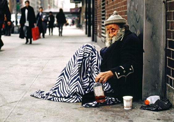 Homeless person in New York   Photo: Andrew Holbrooke
