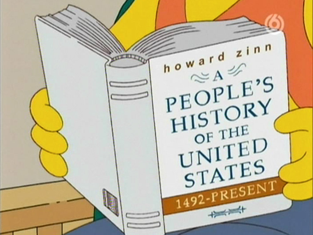 Guess who is reading Howard Zinn's iconoclastic book?