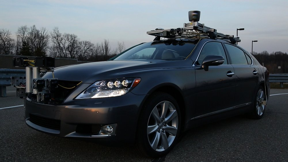 Self driving Lexus experimental prototype