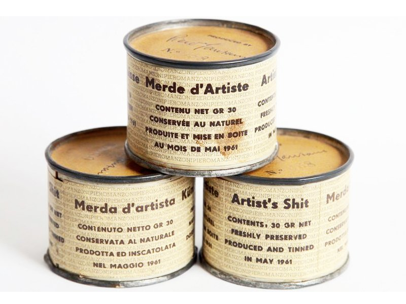 Piero Manzoni (1961) Merda d'artista (Artist's Shit)