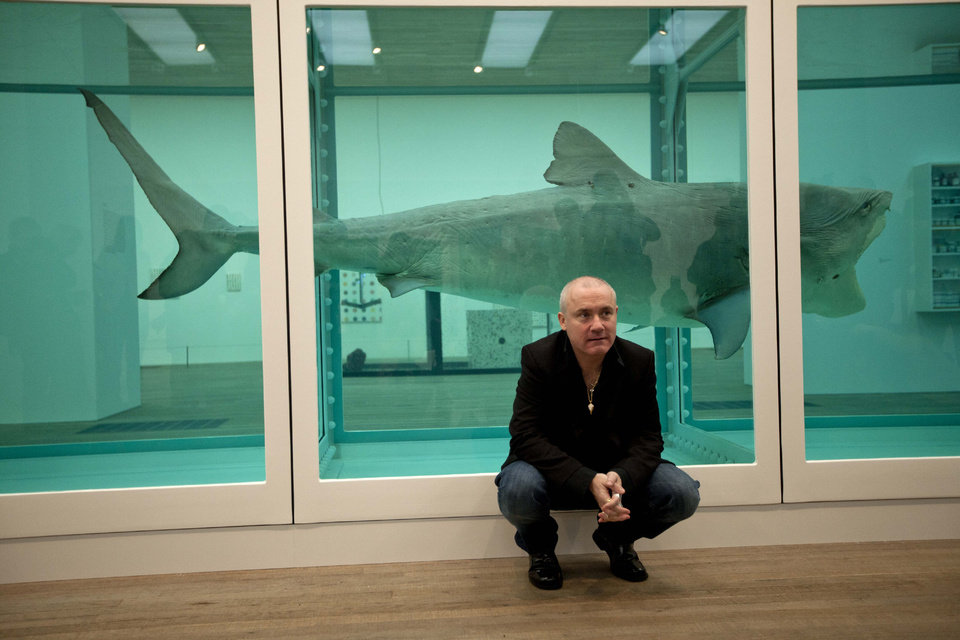 Damien Hirst (1991) The Physical Impossibility of Death in the Mind of Someone Living.