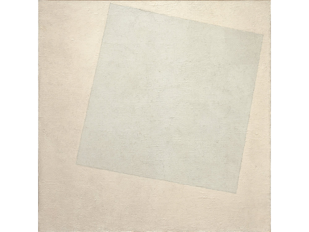 Kazimir Malevich (1918) Suprematist Composition: White on white.