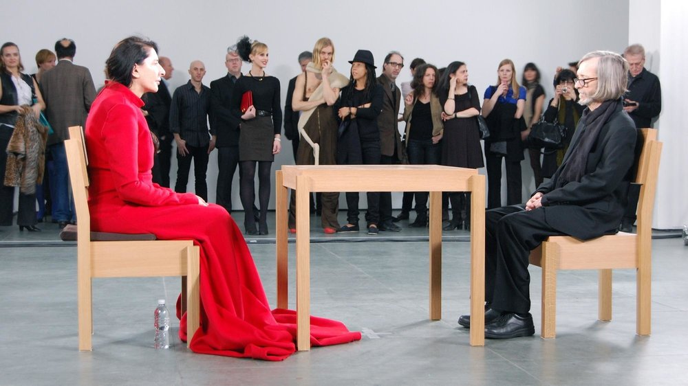 Marina Abramovic (2010) The Artist is Present: a performance art piece at MoMA, New York.