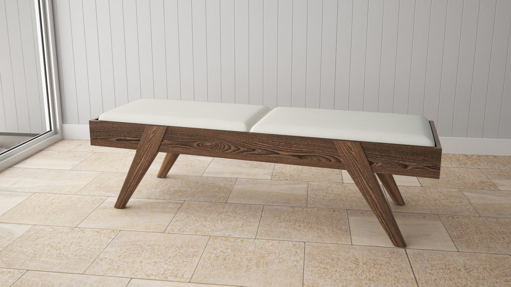 Element Bedroom Bench in Birch