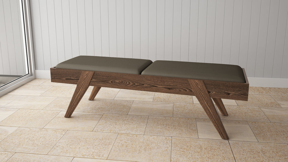Element Bedroom Bench in Shiitake