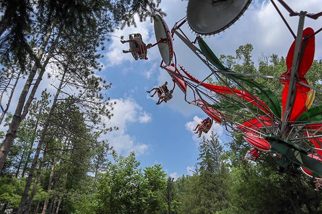 Paratrooper  #knoebels #rides #amusementpark #thrill #paratrooper #sky #photography #perfectday