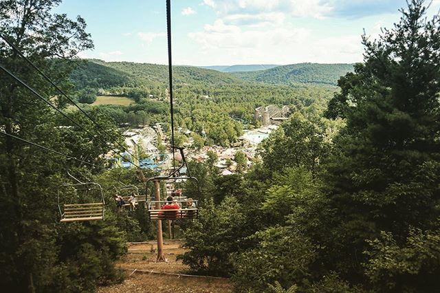 Mountain View⛰  #knoebels #mountains #view #scenic