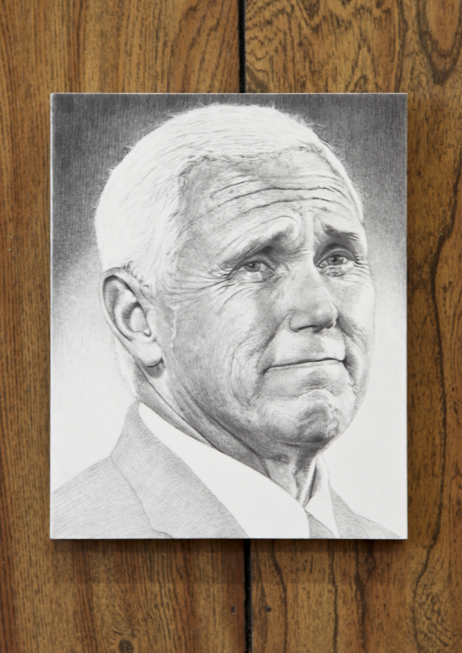 Mark Stockton, Crying Pence, Graphite on Board, 2018