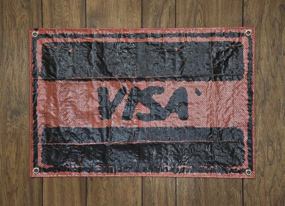 """Kevin Abell """"Visa (Fangoria #40)"""" Woven Propylene Tarp VF Series Black Steel Grommets"""