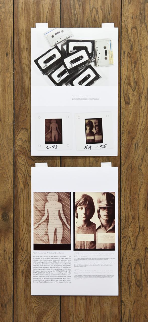"Annie Zverina + Gonzalo Reyes Rodriguez ""Work is Work"" 2 inkjet prints ""13x19"" each, 2018"