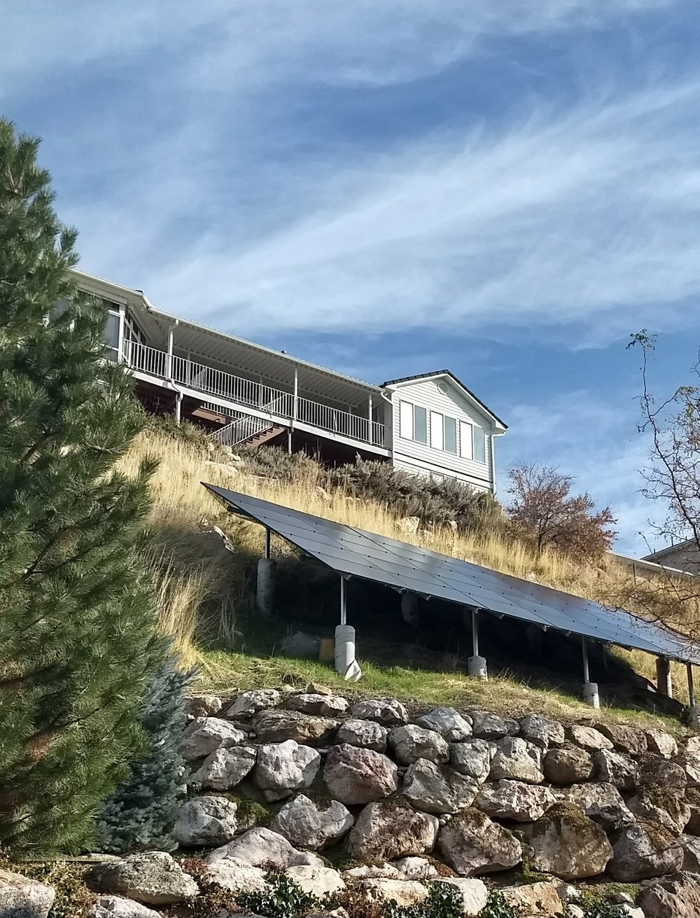 A beautiful ground mount system in Colorado provided by Beautifi Solar.