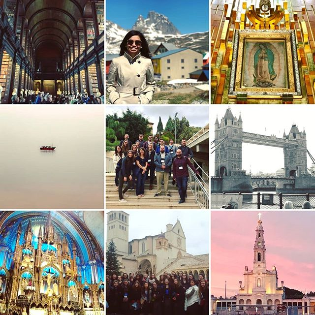 A little late for 2017 Best Nine, but after such a fabulous year, we had to pick our favorite destinations! • • • #Travel #traveling #travelgram #travelphoto #photography #postoftheday #engage #Adventure #Explore #Pilgrim #pilgrimage #Catholic #youngadult  #beautiful #wonderlust #instatravel #instadaily #travelphotography #Italy #Spain #Guadalupe  #seaofgalilee #Nazareth #londonbridge #montreal #fatima #trinitycollege #longroom #2017bestnine