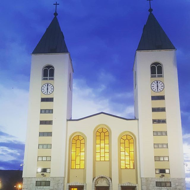 Miracles happen on pilgrimage, especially when the rain clouds part in time for a climb up apparition hill. • • • Travel #traveling #travelgram #travelphoto #photography #postoftheday #engage #Adventure #Explore #Pilgrim #pilgrimage #Catholic #youngadult  #beautiful #wonderlust #instatravel #instadaily #travelphotography #bosnia #Medjugorje #peace #hike #miracles #herecomesthesun