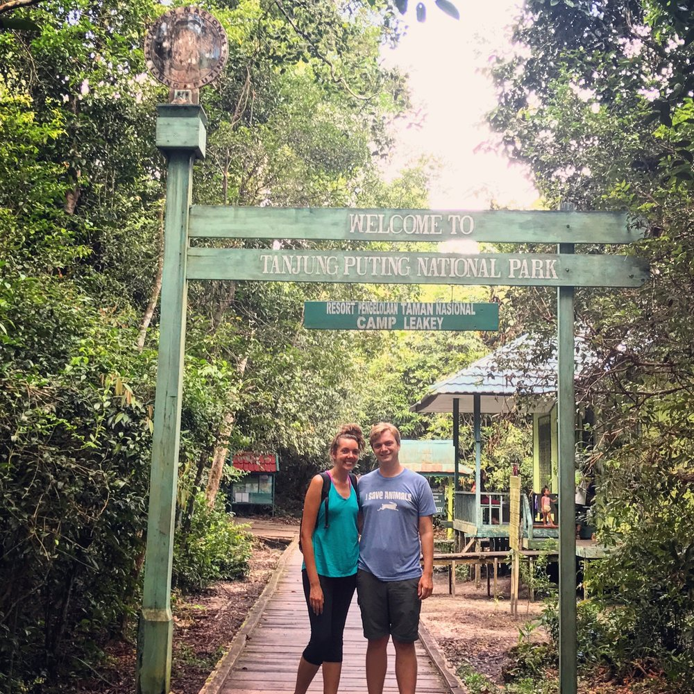 Joel and I at the Camp Leakey entrance.