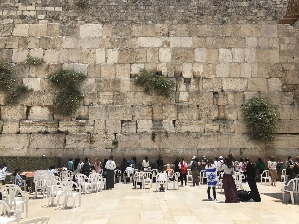 Female section of the Western Wall
