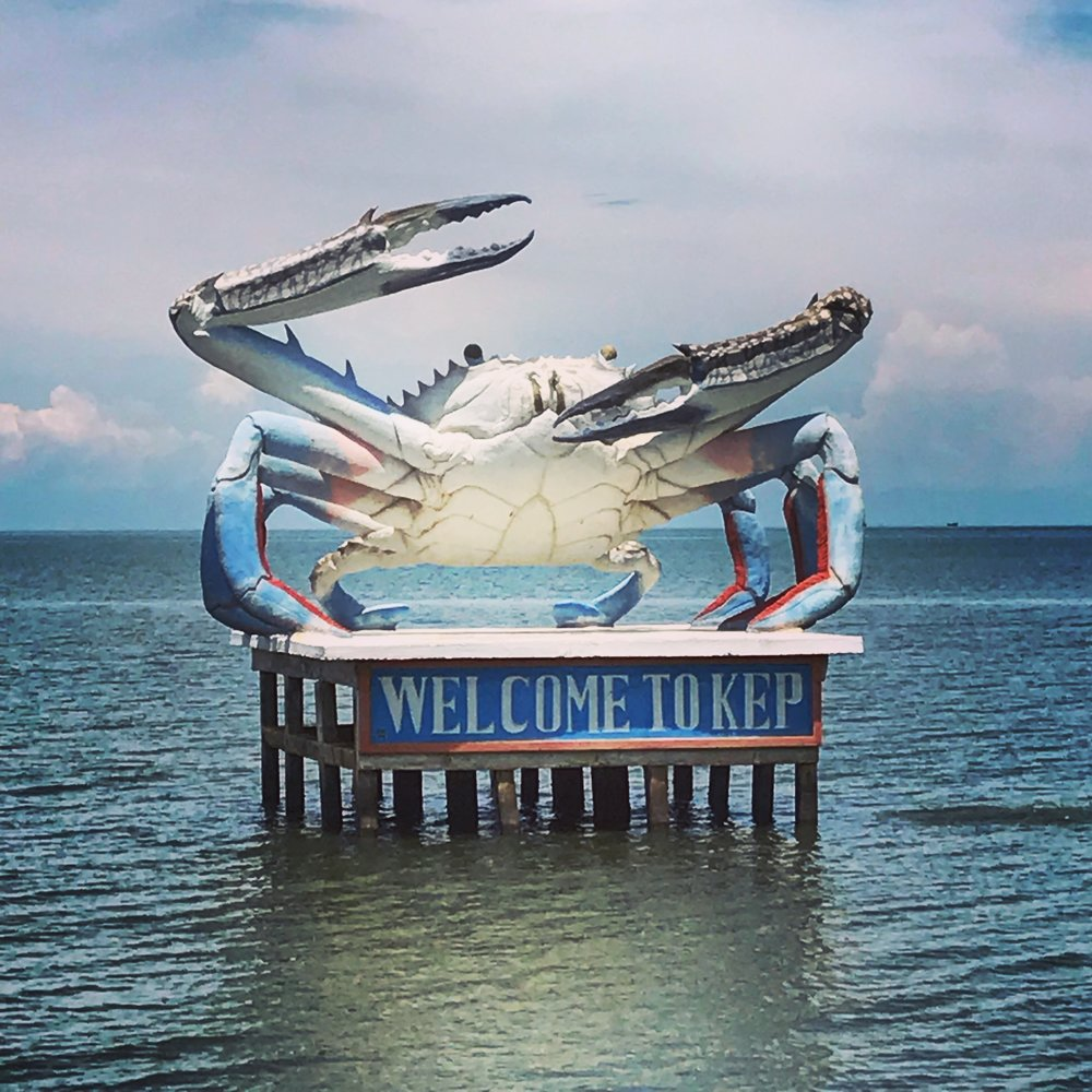 The giant crab just offshore, welcoming us to Kep!