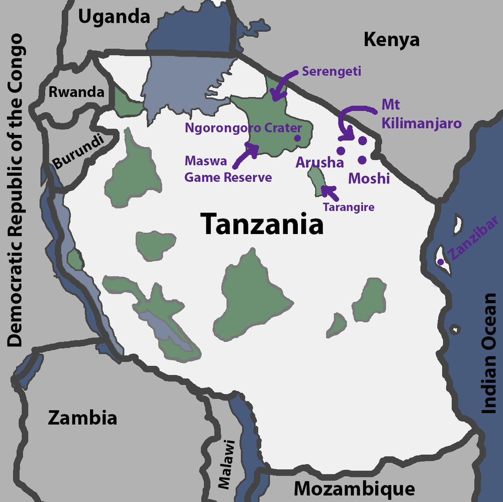 Mt Kilimanjaro On World Map.Tanzania Mt Kilimanjaro A Safari And A Little Bit Of Zanzibar
