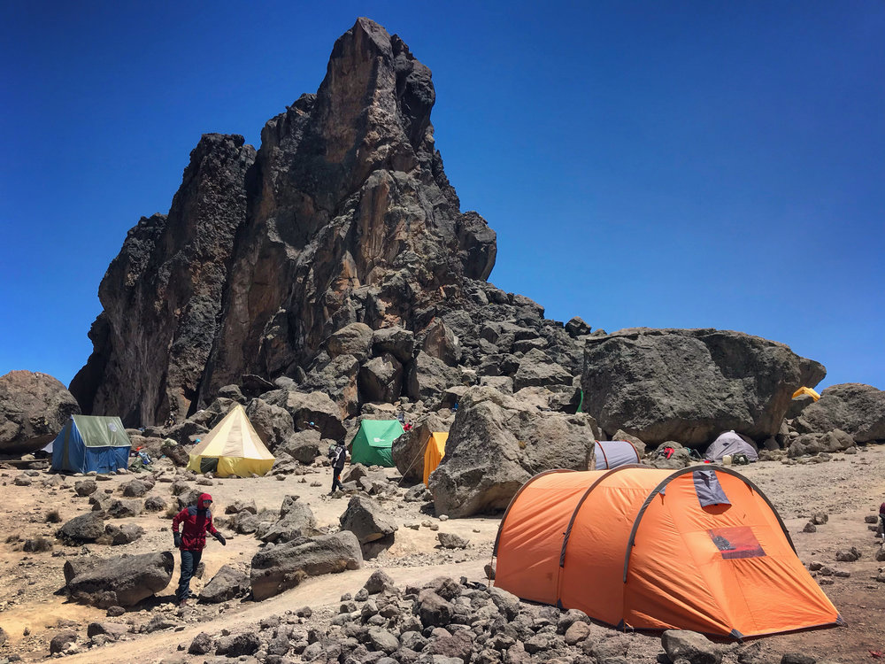 Joel, exploring at the Lava Tower campsite