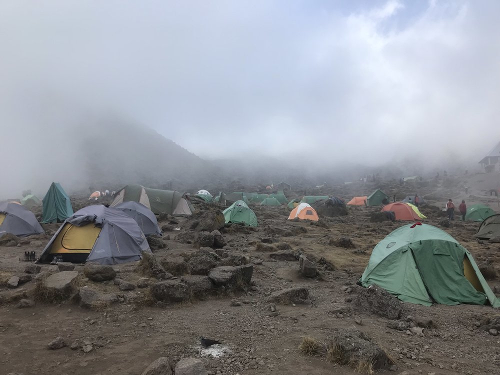 The fog moving in as we hiked into Barranco Camp.