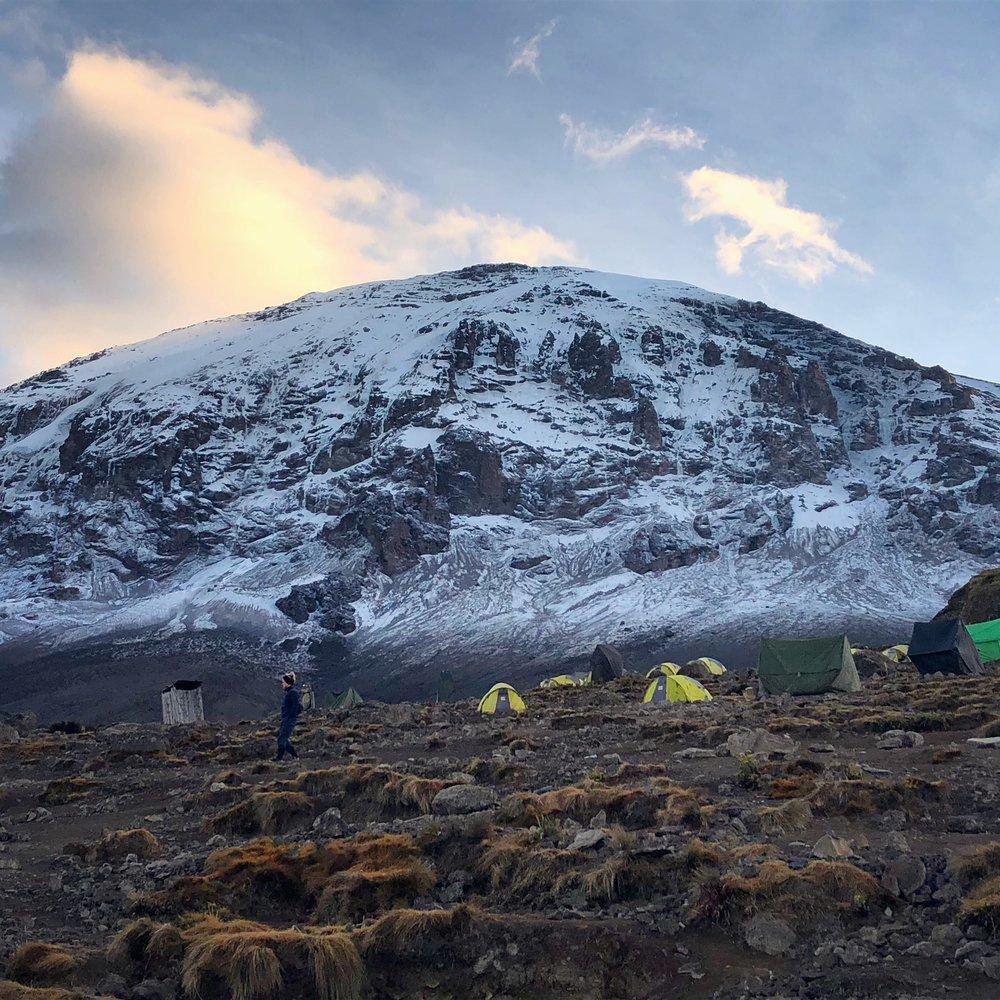 My morning view at Karanga Camp while I brushed my teeth. (13,255 ft / 4,040 m)