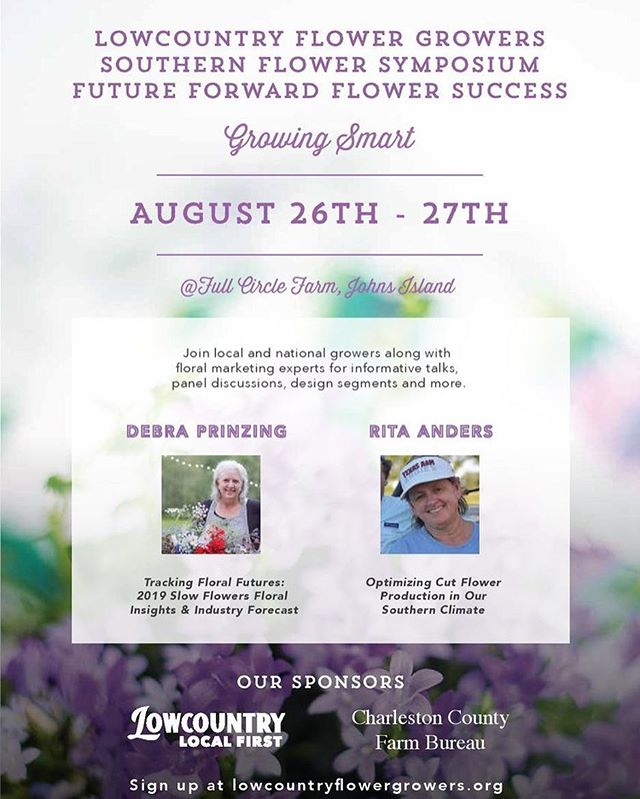 We can't be the only ones geeking out over our featured speakers for the first ever Southern Flower Symposium. The clock is ticking, friends! Ticket sales will close next Thursday evening, so you have just over a week to snag your tickets. We're blown away by those of you who are already signed up and can't wait to meet so many southern growers! Link to more info and tickets in our profile.