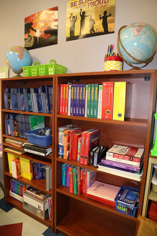 Bookshelves in Classroom