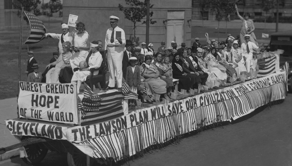 All Nations Float designed by Direct Credit's Major General Alvira Haagsma, Cleveland, OH, September 16th, 1934.